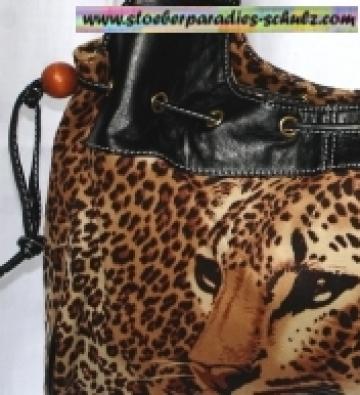 Leo Shopper Handtasche Schwarz + Raffer HARPA BAGS